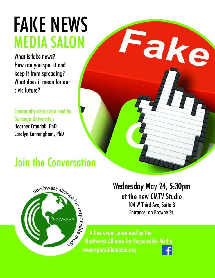 Fake News Media Salon flyer May 24, 2017, CMTV